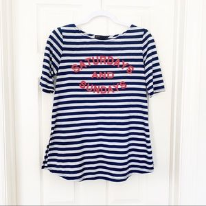 Gibson | Saturday Sunday Graphic T-Shirt Striped